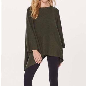 Lululemon Wool Be Cozy Poncho Dark Olive